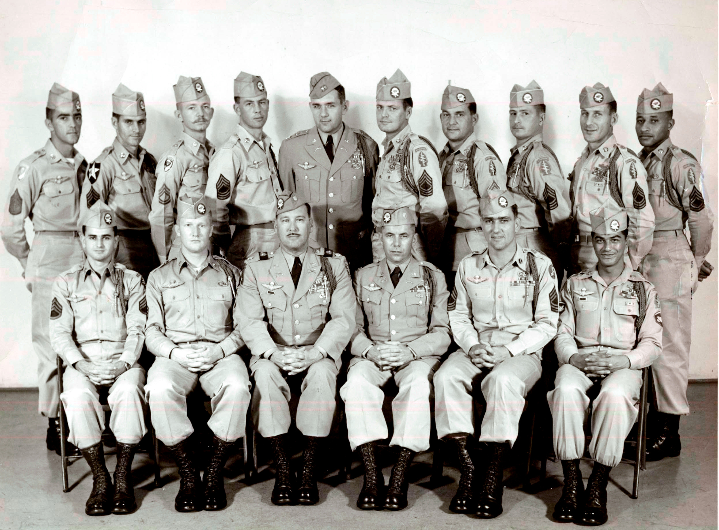 14th SFOD, cadre of 1st SFGA, January 1957 at Fort Shafter