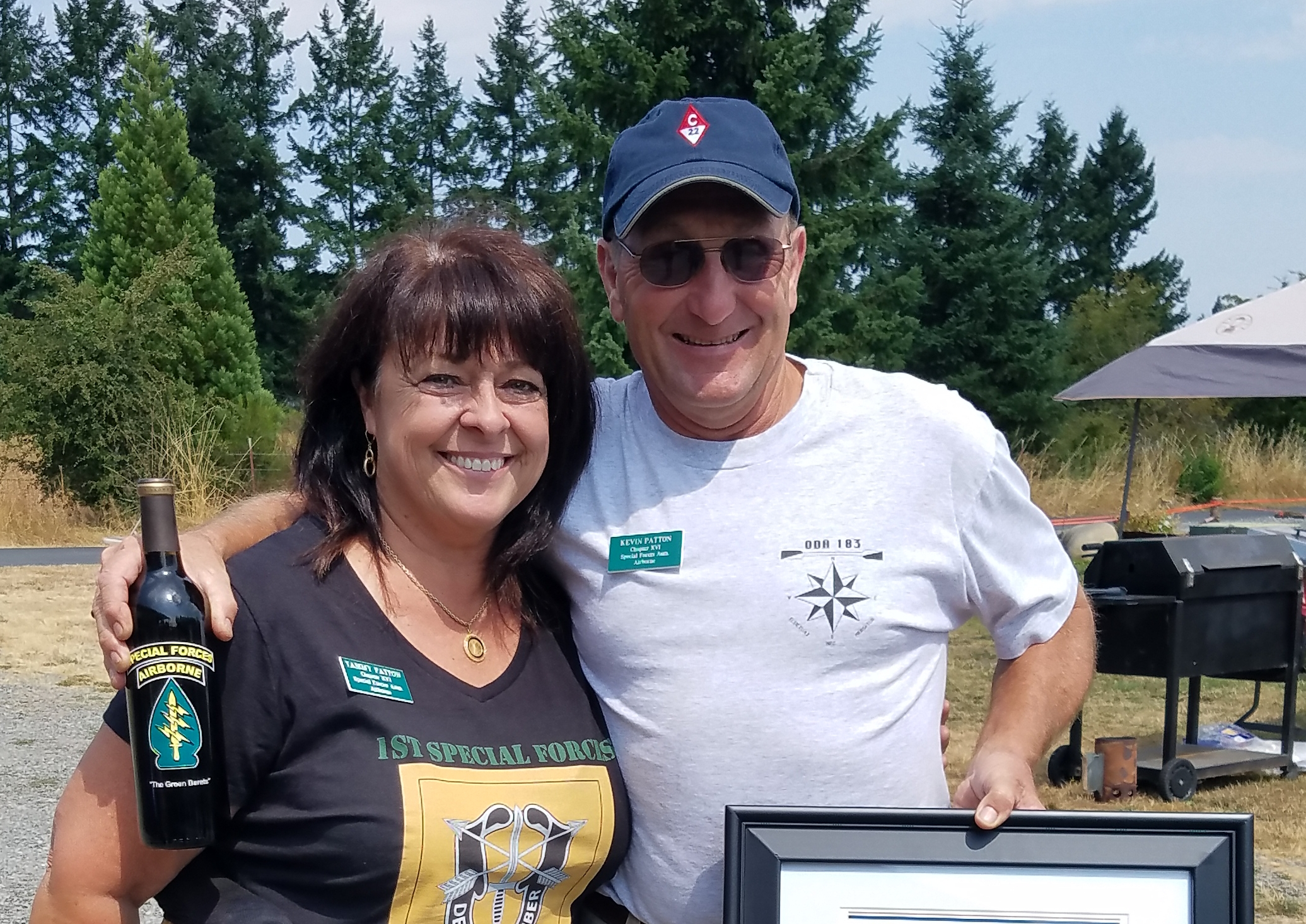 2017 Picnic Hosts, Kevin and Tammy Patton